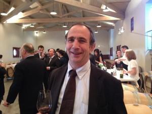 Wine critic Bernard Burtschy at the tasting