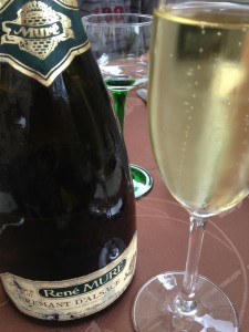 Damned good Crémant enjoyed in 2013 yet disgorged in 2007. Smooth, iodine freshness, with mere hints of oxidation. Bravo to Alsace!