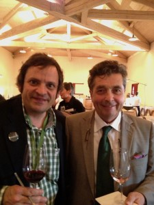 At the tasting with famous Bordeaux wine consultant Denis Dubourdieu