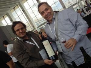 With Yiannis Karakasis enjoying the Rapsani 1998 from large format.