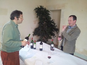 Tasting with Vincent Millet at Calon Segur in 2013